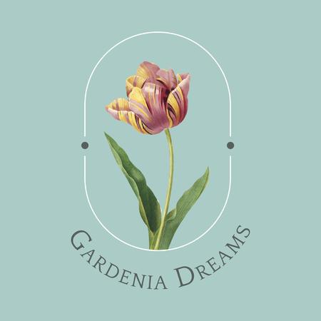 Gardenia dreams logo design vector Illustration