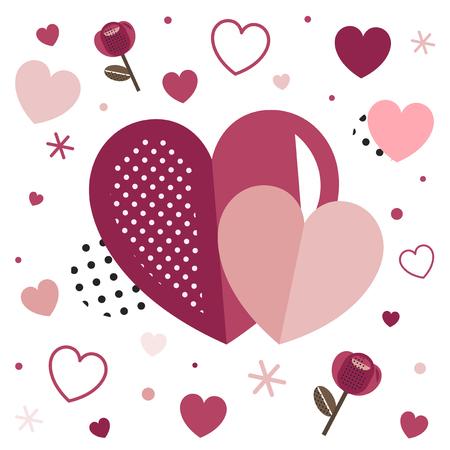 Valentine's Day blank background vector Illustration