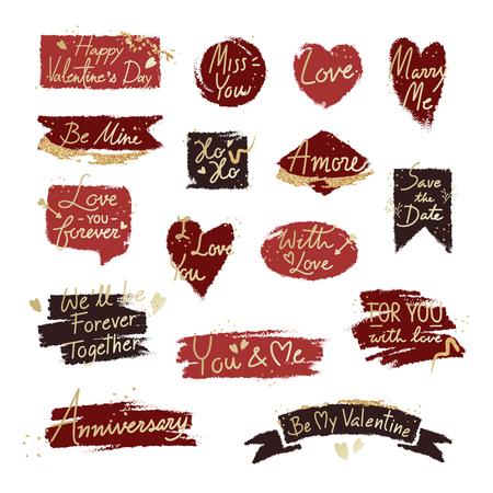 Typografie Valentijn woord ontwerp op achtergrond