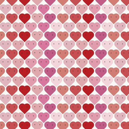 Valentine's day heart shape pattern vector