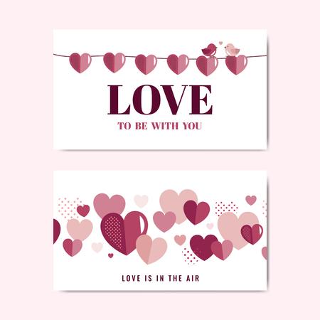 Valentine's Day banner decoration vector Illustration