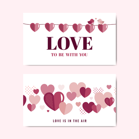 Valentine's Day banner decoration vector 일러스트
