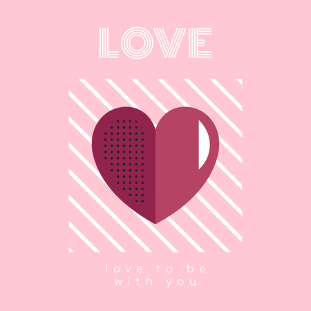 Love to be with you on Valentine's day vector Illustration