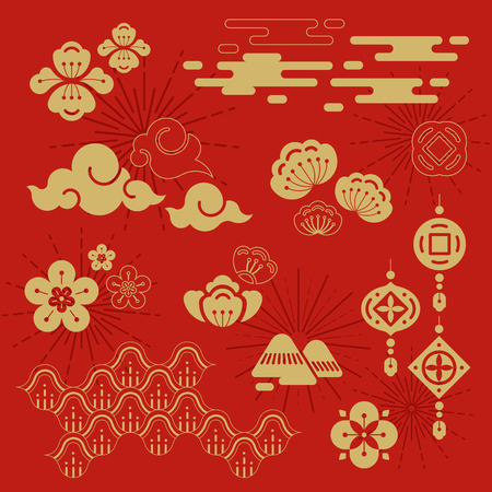 Chinese new year 2019 design 向量圖像
