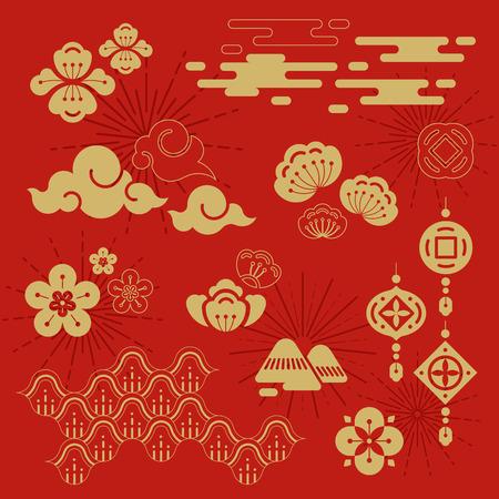 Conception du nouvel an chinois 2019