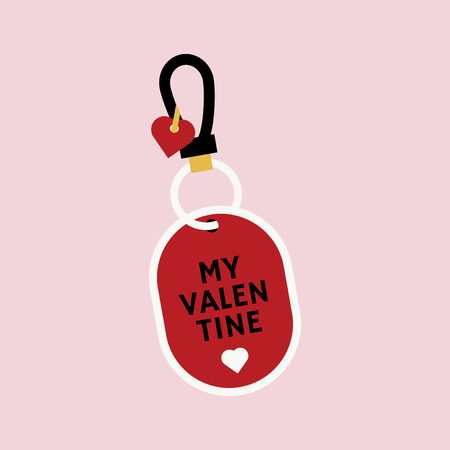 My Valentine tag vector