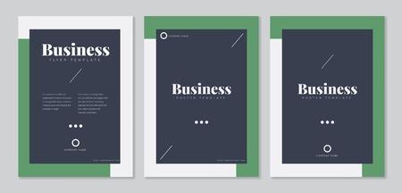 Business invitation flyer template vector set