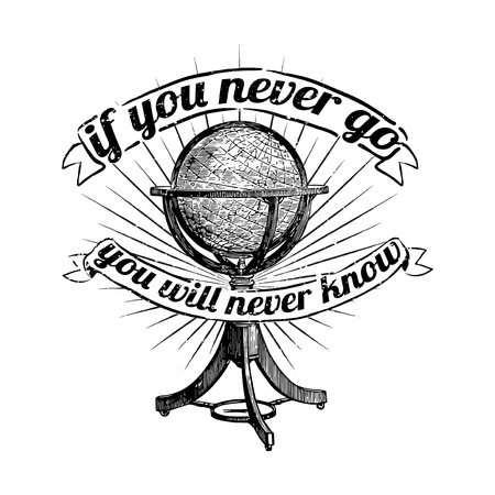 If you never go you will never know vector Stok Fotoğraf - 116525613