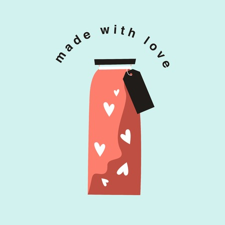 Bottle of love on Valentine's Day vector 스톡 콘텐츠 - 125376440