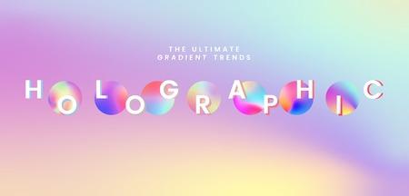 Colorful holographic gradient trend vector Vektorové ilustrace