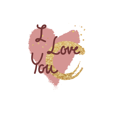 Typography Valentine word design on background Foto de archivo - 125376446