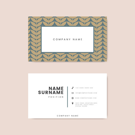 Botanical business card template vector 版權商用圖片 - 116525636