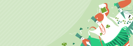 St. Patrick's Day banner vector