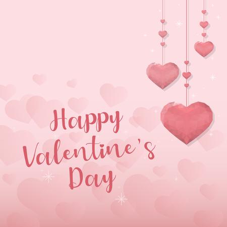 Valentine's day vector design concept Illustration