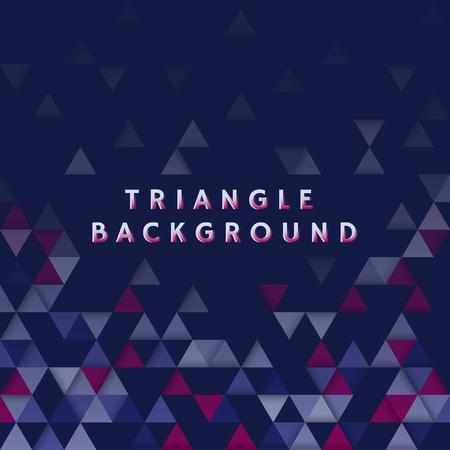 Colorful triangle patterned on blue background Ilustração