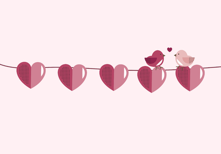 Valentine's Day banner decoration vector 스톡 콘텐츠 - 125376473