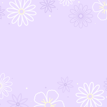 White flower pattern with a purple background vector