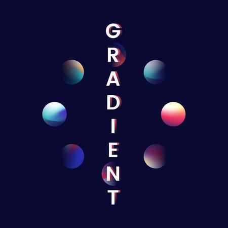 Colorful gradient trend element vector Ilustração
