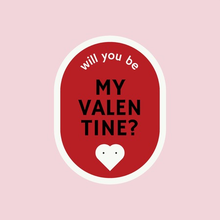 Will you be my valentine vector