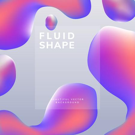 Vecteur de fond dégradé fluide coloré
