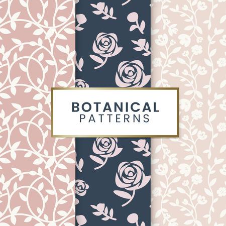 Pink floral patterned background vector Ilustração
