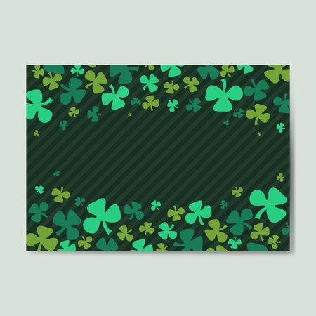 St. Patrick's Day background vector  イラスト・ベクター素材