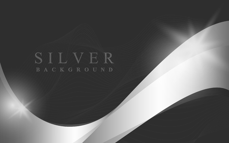 Silver wave abstract background vector