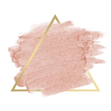 Insigne de coup de pinceau scintillant rose