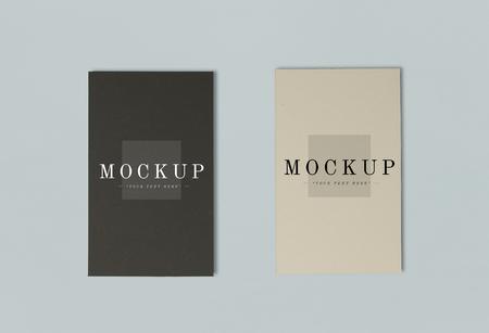 Two colors of name card mockups Foto de archivo - 116606366