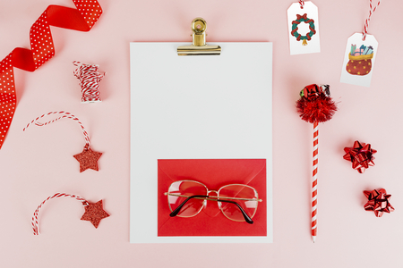 Cute girly letter to Santa Stock Photo
