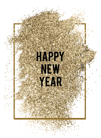Happy New Year glitter background badge