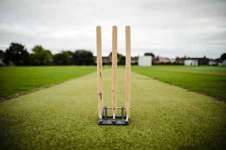 Wicket on a cricket field