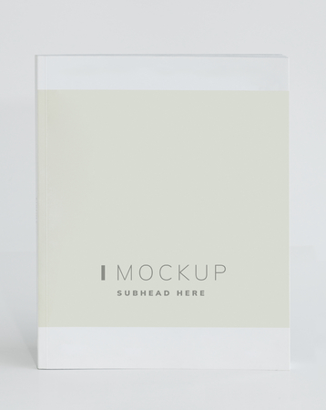 The cover of a magazine mockup