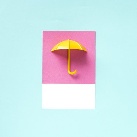 Paper craft art of an umbrella
