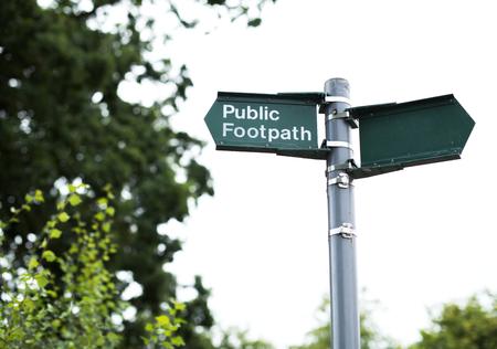 Public footpath sign Reklamní fotografie