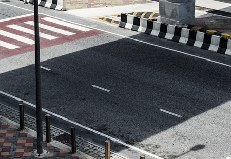 Street view with a zebra crossing 版權商用圖片