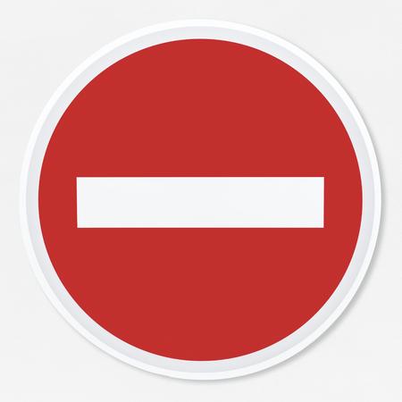 Nessuna illustrazione vettoriale di segnale stradale di entrata
