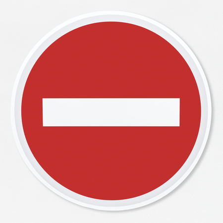 No entry road sign vector illustration Stock Photo