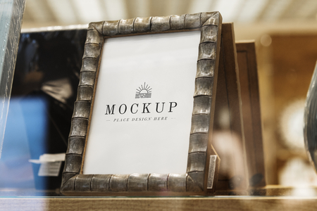 Mockup of a photo frame in the store
