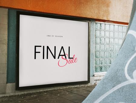 End of season final sale board mockup