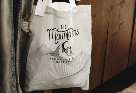 Mockup of a reusable tote bag