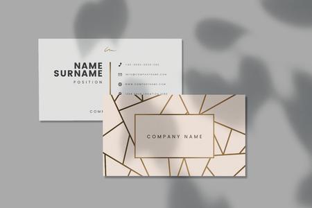 Visitenkartenmodell des Firmennamens