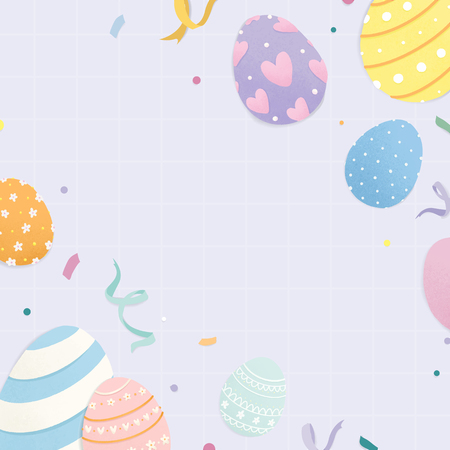 Happy Easter 2019 background vector