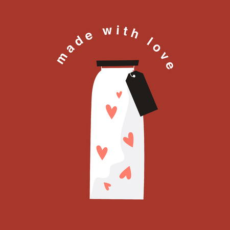 Bottle of love on Valentine's Day vector