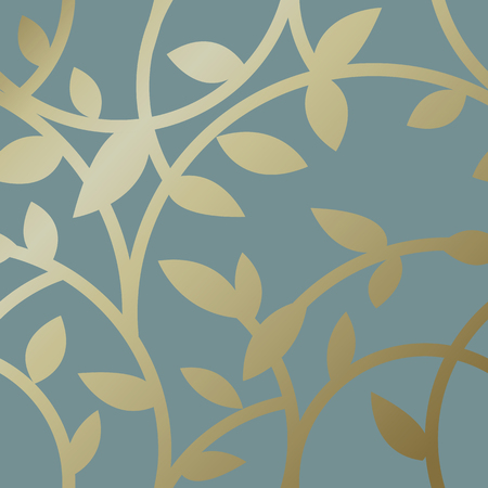 Gold botanical pattern background vector Illustration