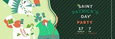 St. Patrick's Day celebration banner vector Stock Vector - 116611965