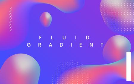 다채로운 유체 그라데이션 배경 벡터 벡터 (일러스트)