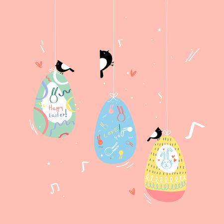 Vecteur de carte de célébration de Pâques
