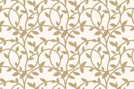 Gold floral patterned background vector