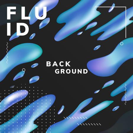 Colorful fluid gradient background vector